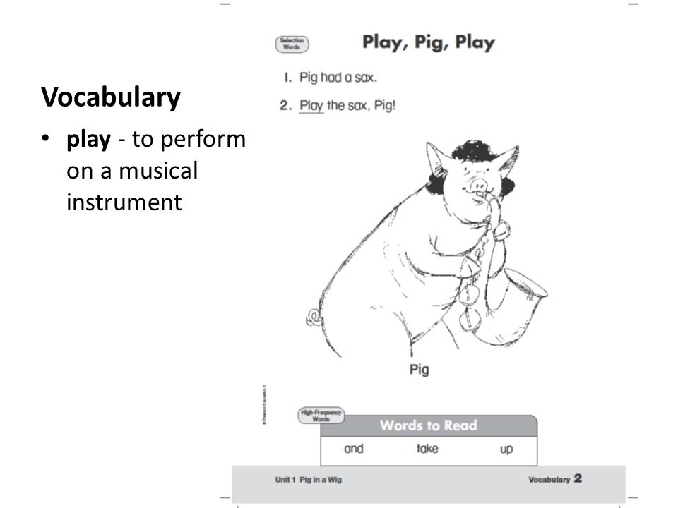 Vocabulary play - to perform on a musical instrument