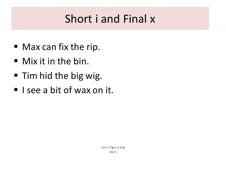 Short i and Final x Max can fix the rip. Mix it in the bin.