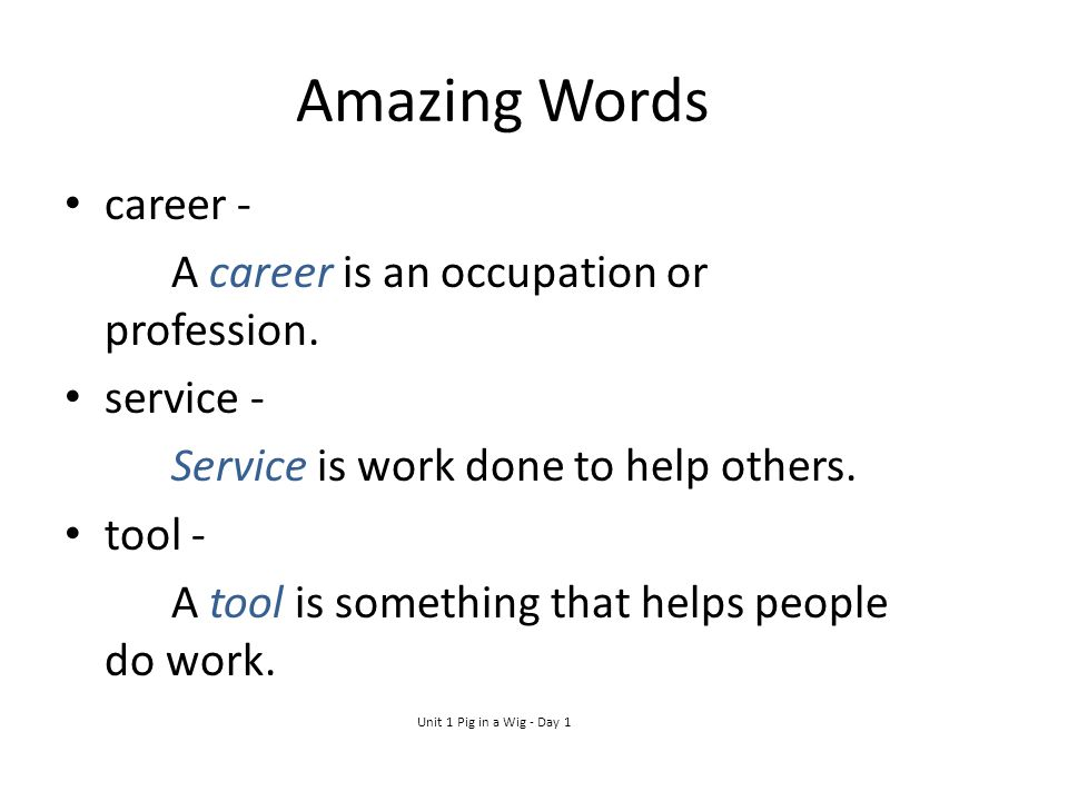 Amazing Words career - A career is an occupation or profession.