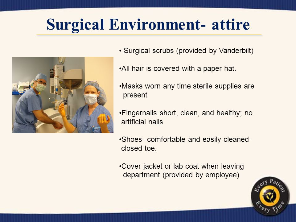 Surgical Environment- attire