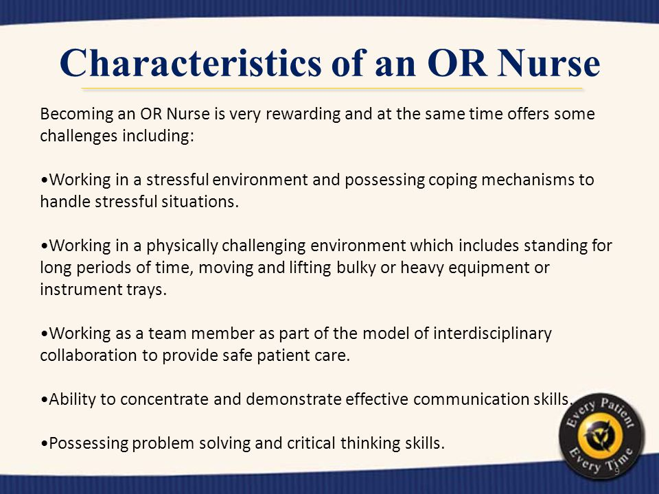 Characteristics of an OR Nurse