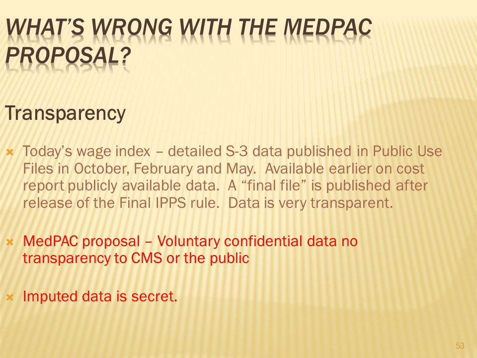 What's wrong with the MedPAC proposal