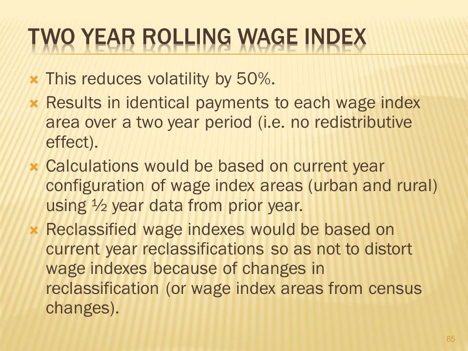 Two Year Rolling Wage Index