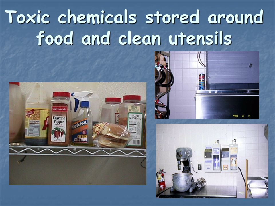 Chemicals Must Be Stored Above Food And Food Contact Surfaces