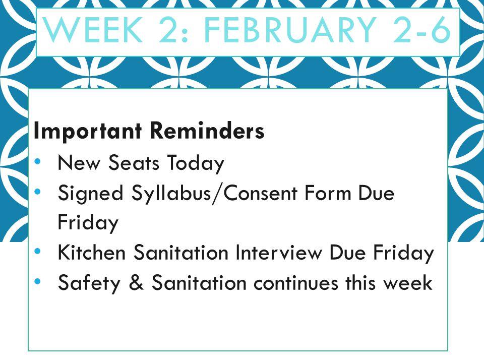 food safety and sanitation week 2