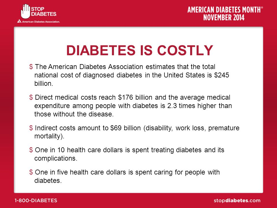 DIABETES IS COSTLY