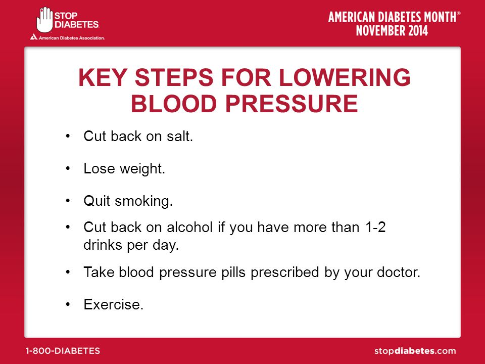 KEY STEPS FOR LOWERING BLOOD PRESSURE
