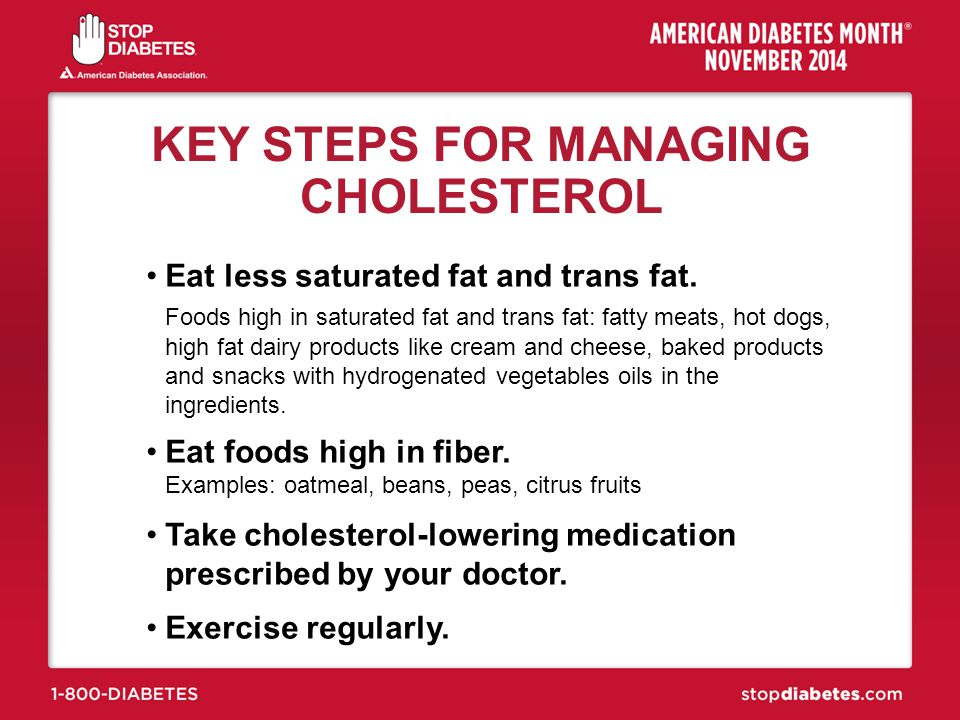 KEY STEPS FOR MANAGING CHOLESTEROL