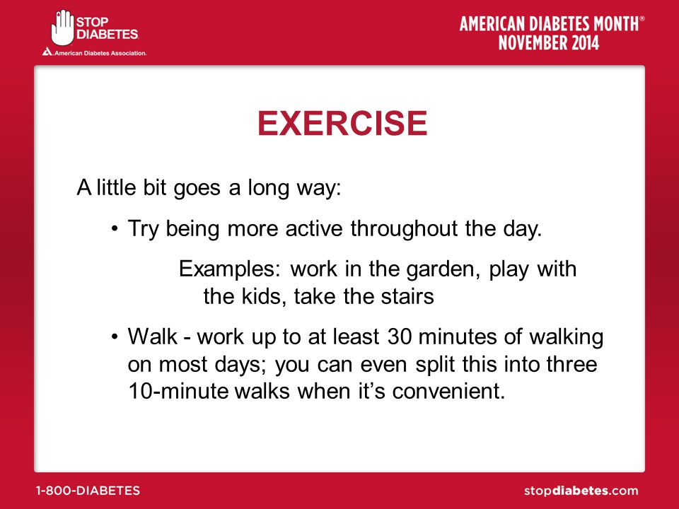 EXERCISE A little bit goes a long way: