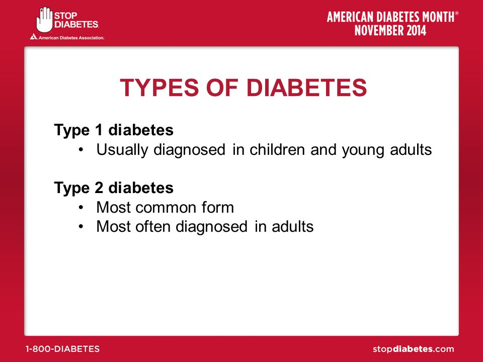 TYPES OF DIABETES Type 1 diabetes