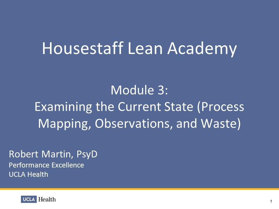 housestaff lean academy module 3: examining the current state, Presentation templates