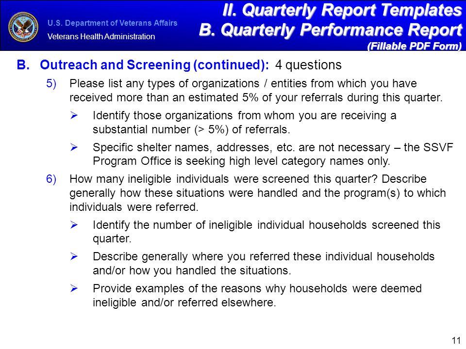 quarterly report sample