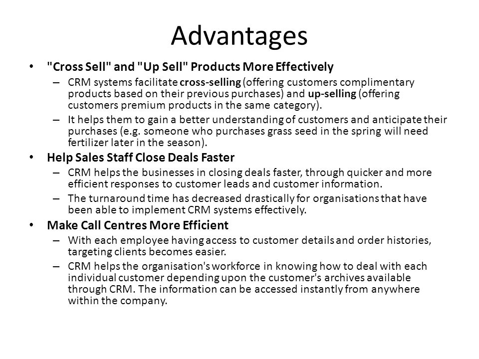 Advantages Cross Sell and Up Sell Products More Effectively