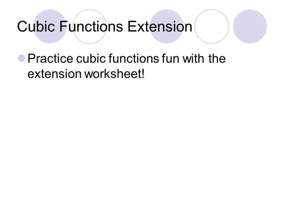 Cubic Functions fx x ppt download – Graphing Cubic Functions Worksheet