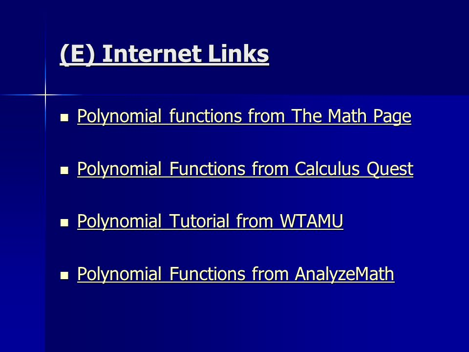 1.2 - Investigating Polynomial Functions - ppt download