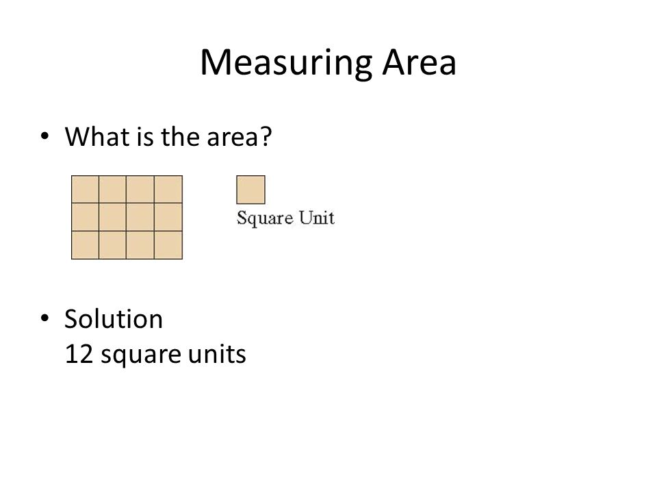 how to find area in square units