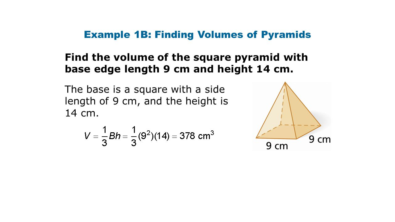 Volume Of A Pyramid And Cone Ppt Download
