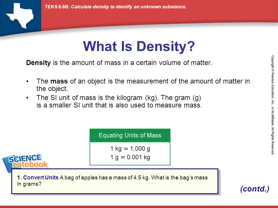 What Is Density (contd.)