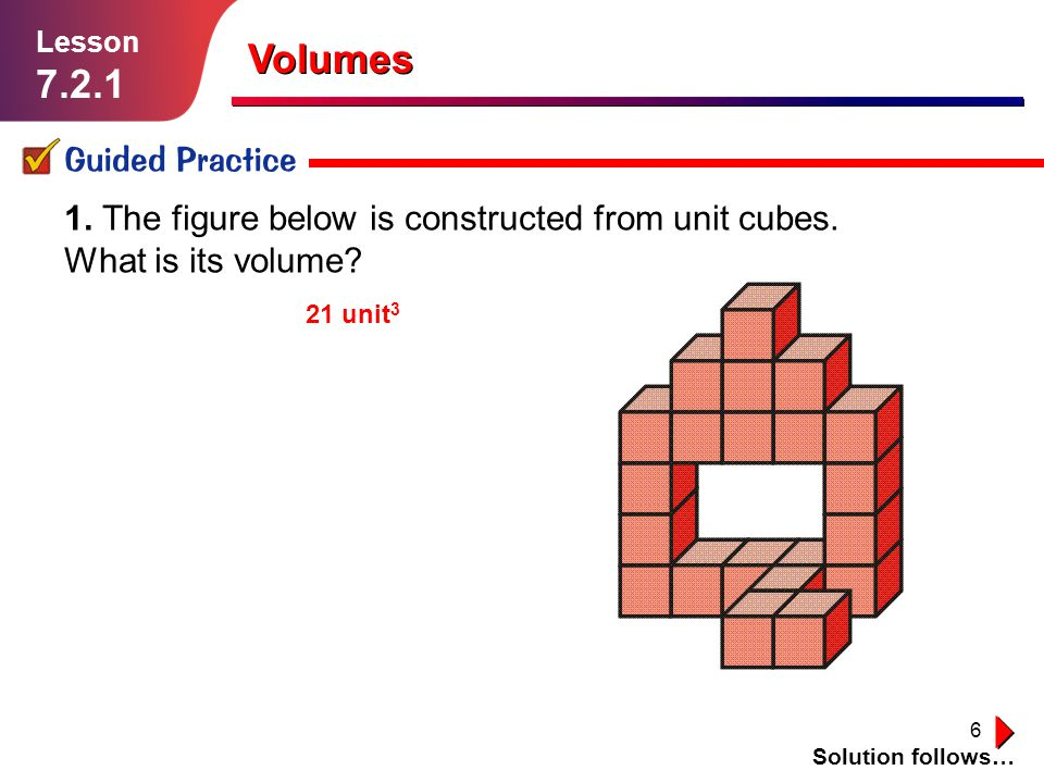 Volumes Guided Practice
