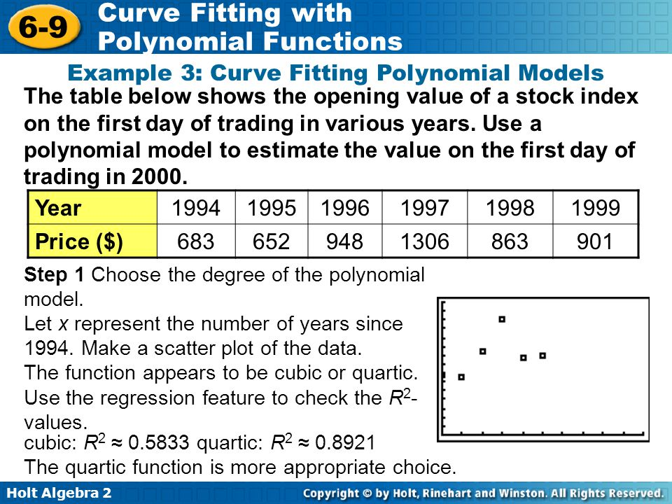 Example 3: Curve Fitting Polynomial Models