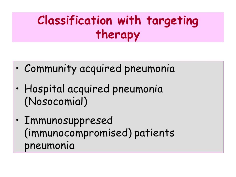 Classification with targeting therapy