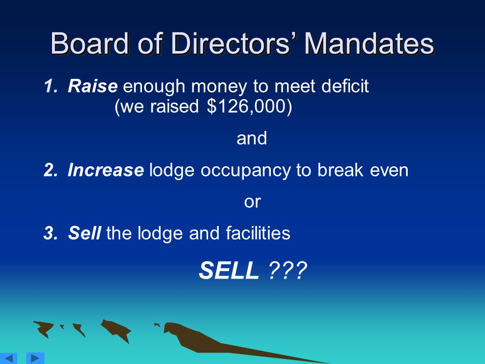 Board of Directors' Mandates