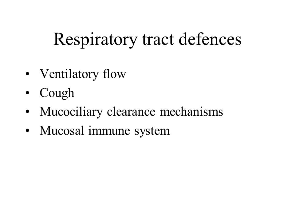 Respiratory tract defences