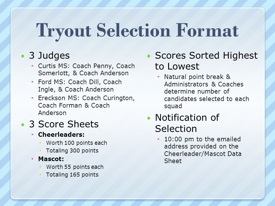 Cheerleading Tryout Score Sheet No Automatic Alt Text Available