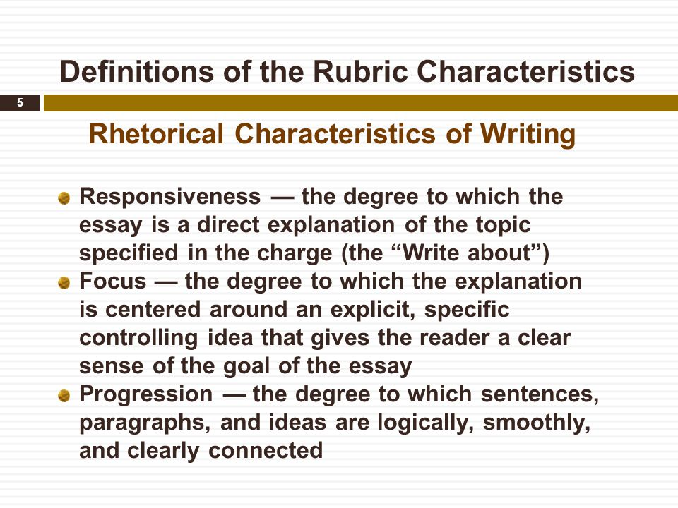 rubric for 3 paragraph essays