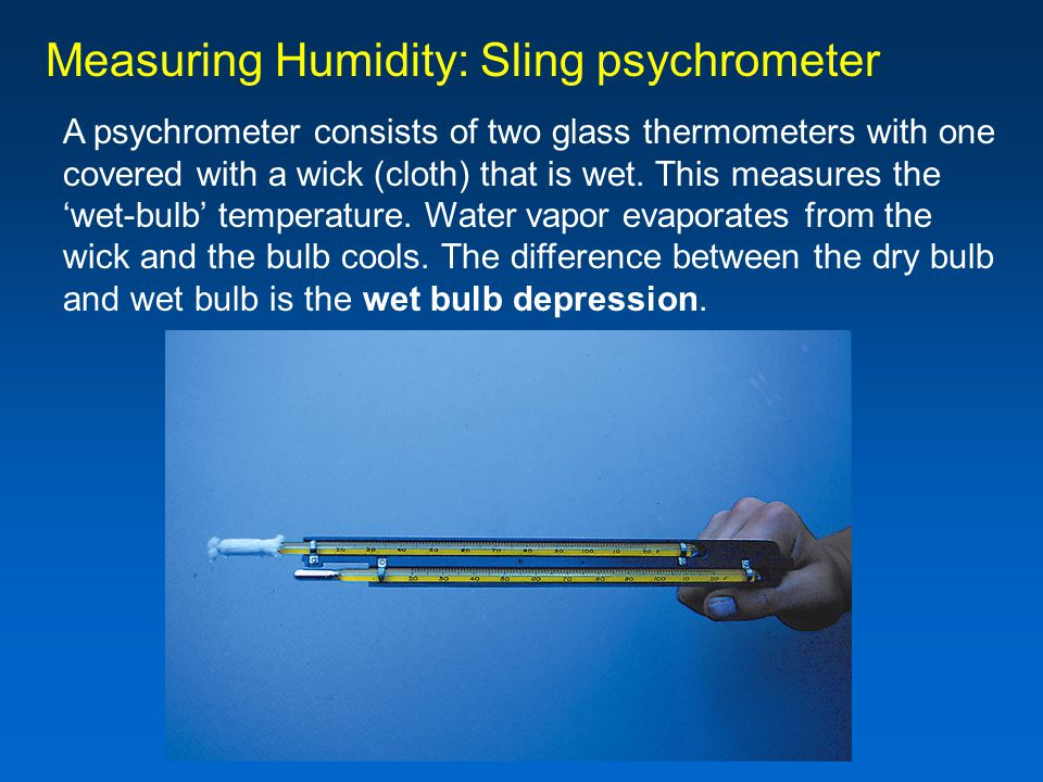 Measuring Humidity: Sling psychrometer