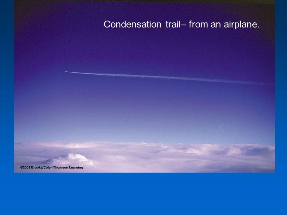 Condensation trail– from an airplane.
