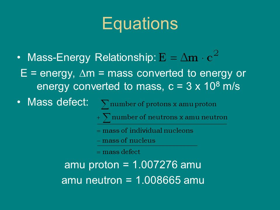 relationship b mass and energy