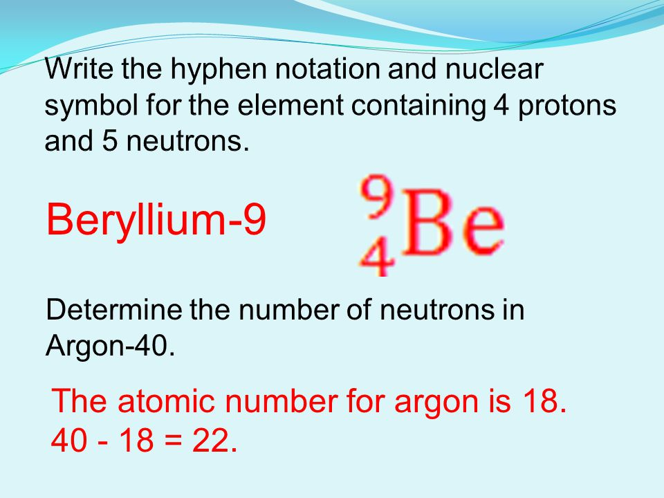 Atoms and nuclear chemistry ppt video online download 11 beryllium 9 urtaz Choice Image
