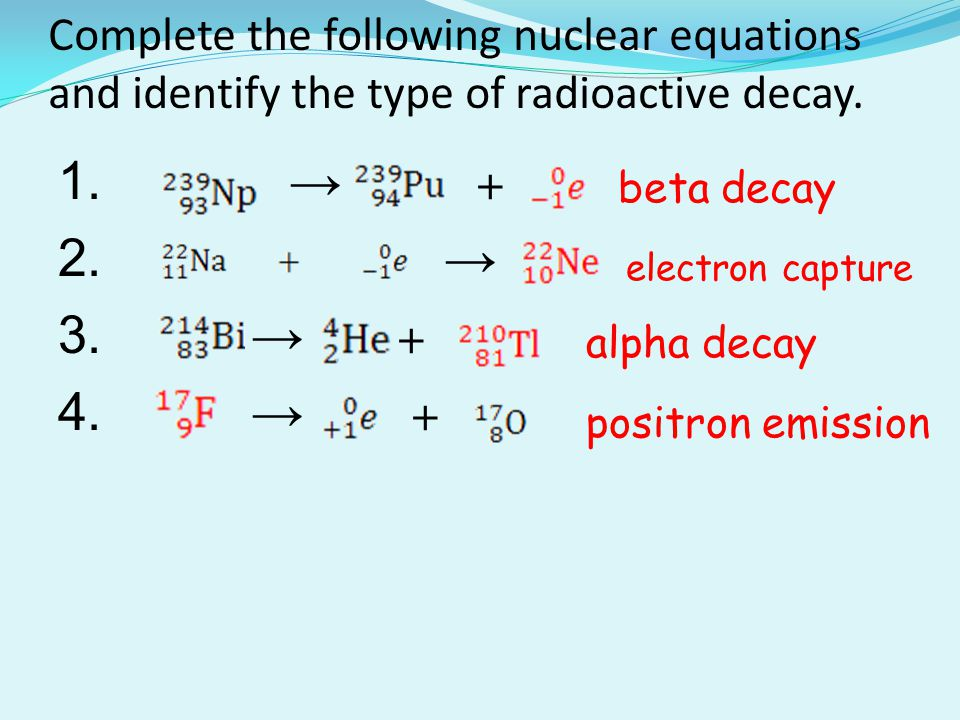 Balanced nuclear equation for carbon dating 1