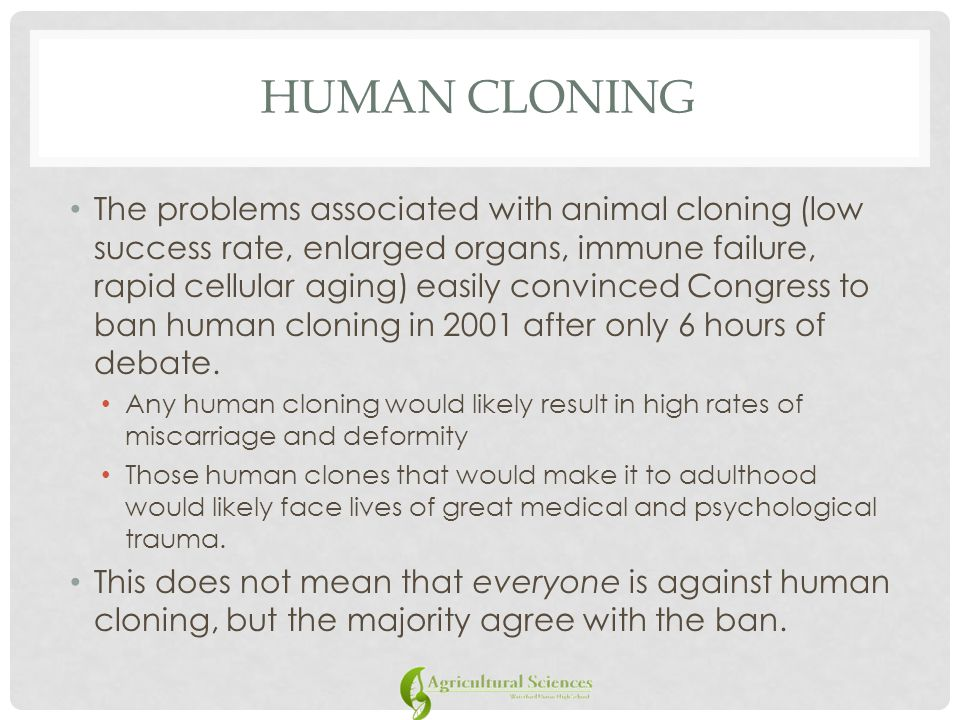 an analysis of a strong debate of human cloning Table of contents introduction 1  the debate over human cloning and scnt  , a strong presumption in favor of.