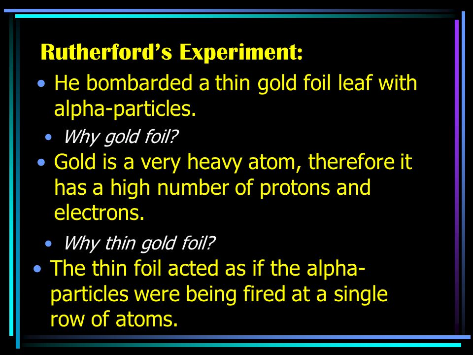 Rutherford's Experiment: