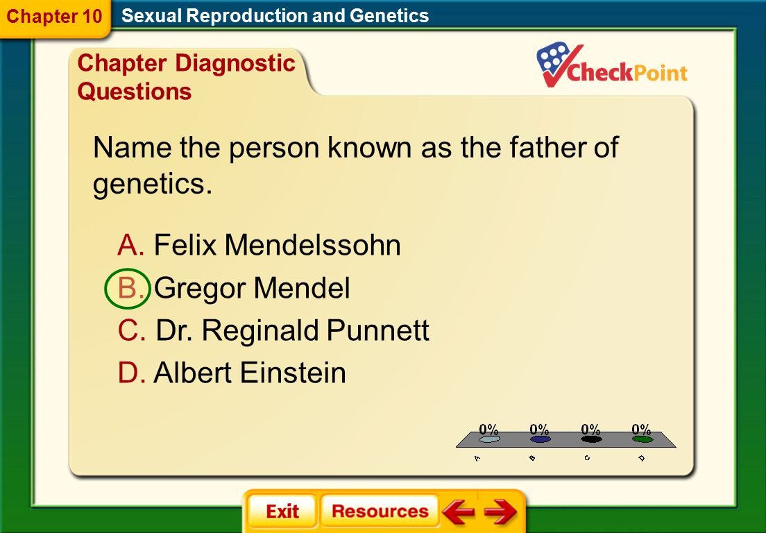 Name the person known as the father of genetics.