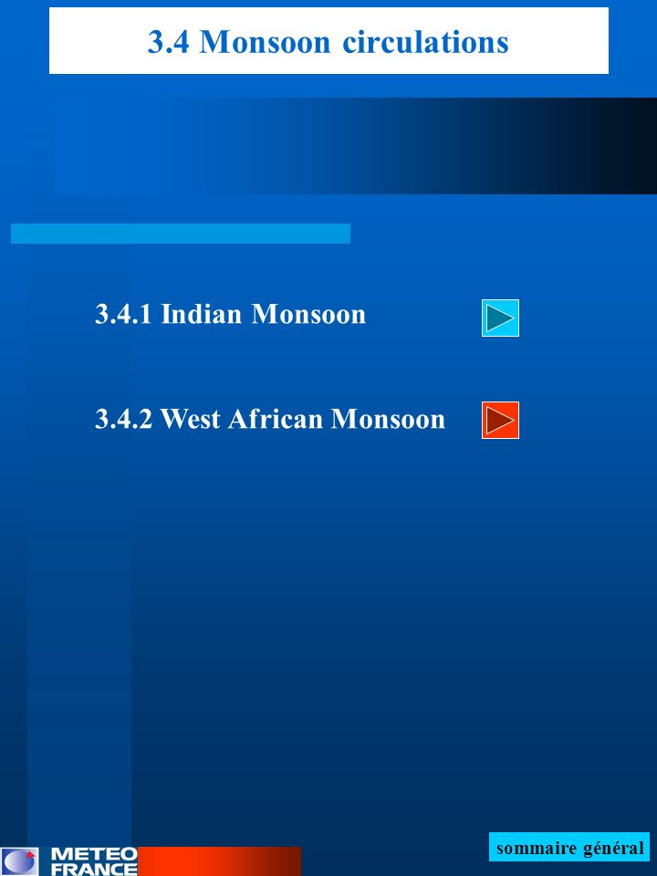 3.4 Monsoon circulations 3.4.1 Indian Monsoon