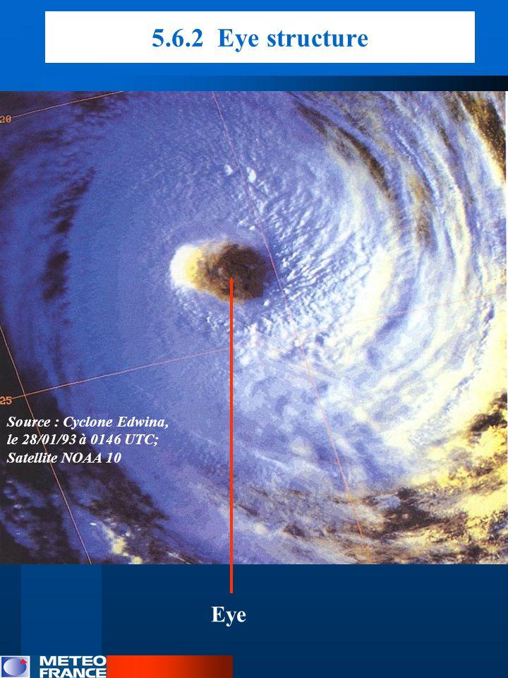 5.6.2 Eye structure Source : Cyclone Edwina, le 28/01/93 à 0146 UTC; Satellite NOAA 10 Eye