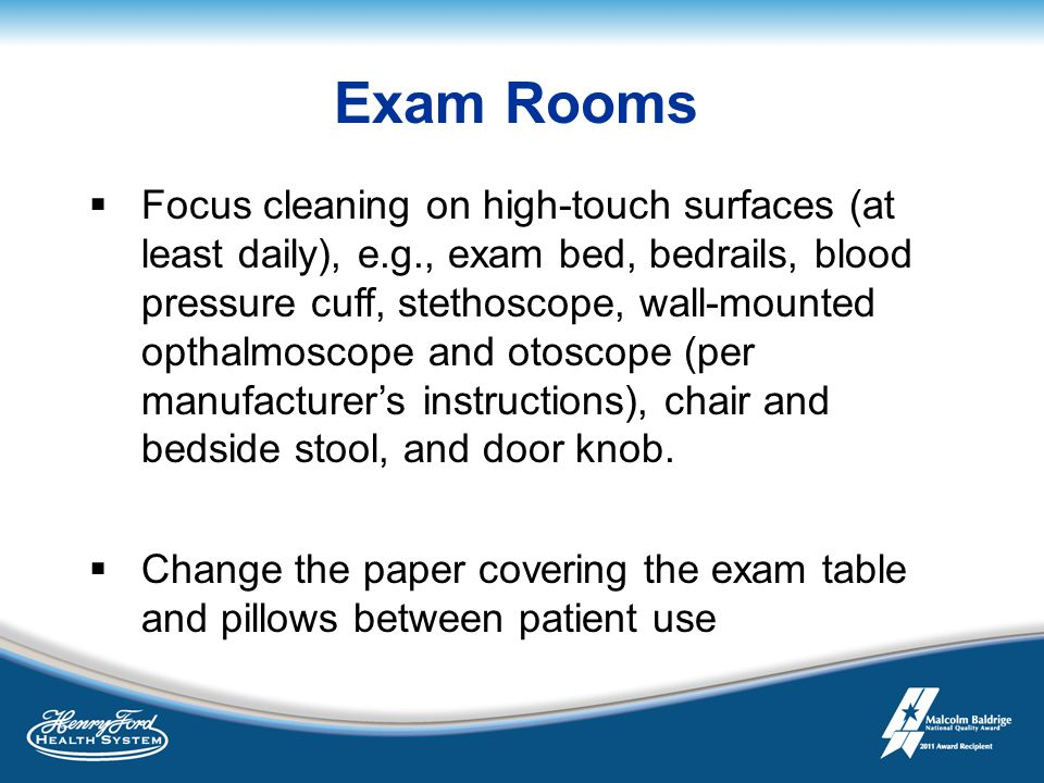 Cleaning And Disinfection In The Ambulatory Care Setting