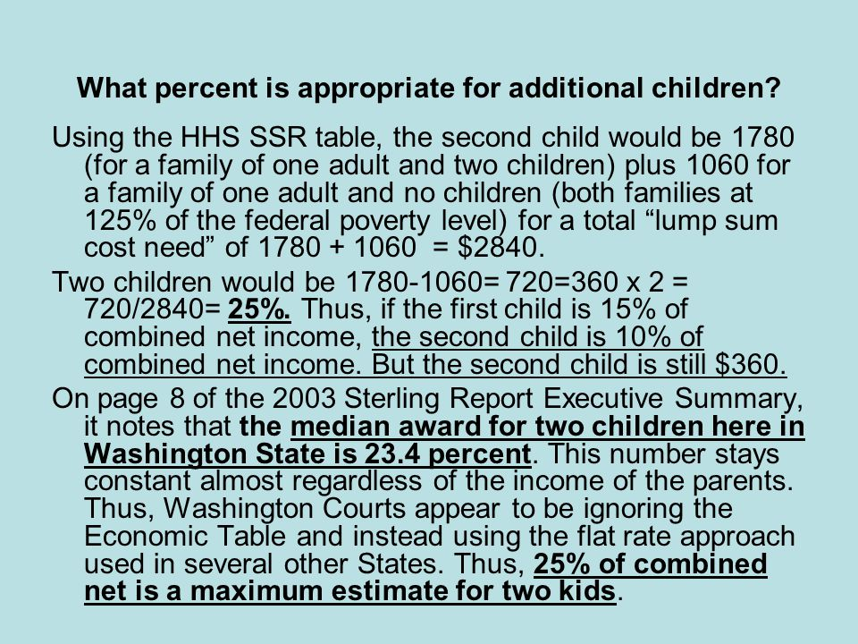 federal child support guidelines table