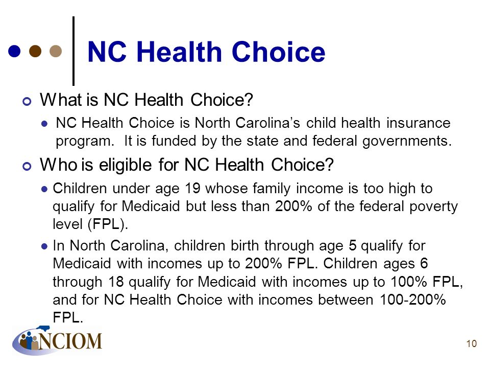 NC Health Choice What is NC Health Choice