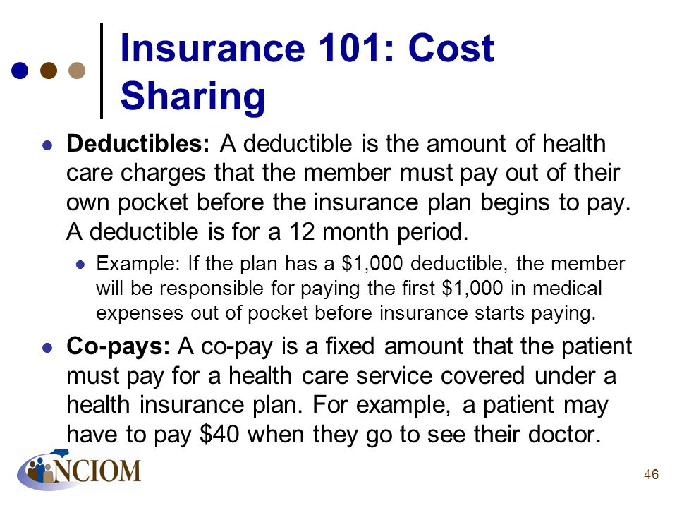 Insurance 101: Cost Sharing