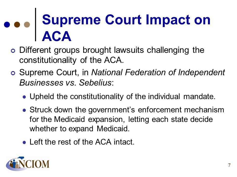 Supreme Court Impact on ACA