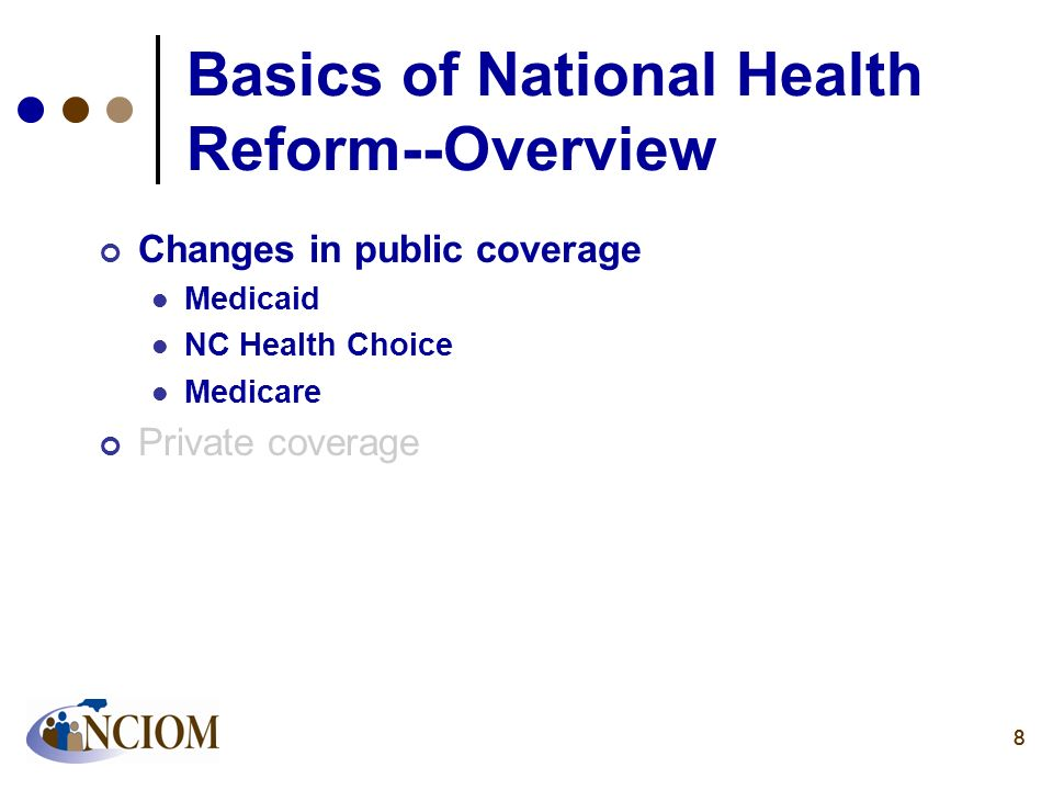 Basics of National Health Reform--Overview
