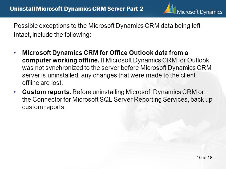 Uninstall Microsoft Dynamics CRM Server Part 2
