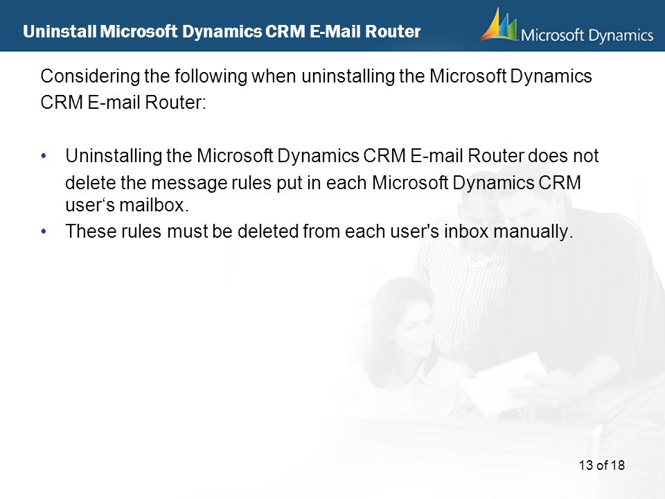 Uninstall Microsoft Dynamics CRM  Router