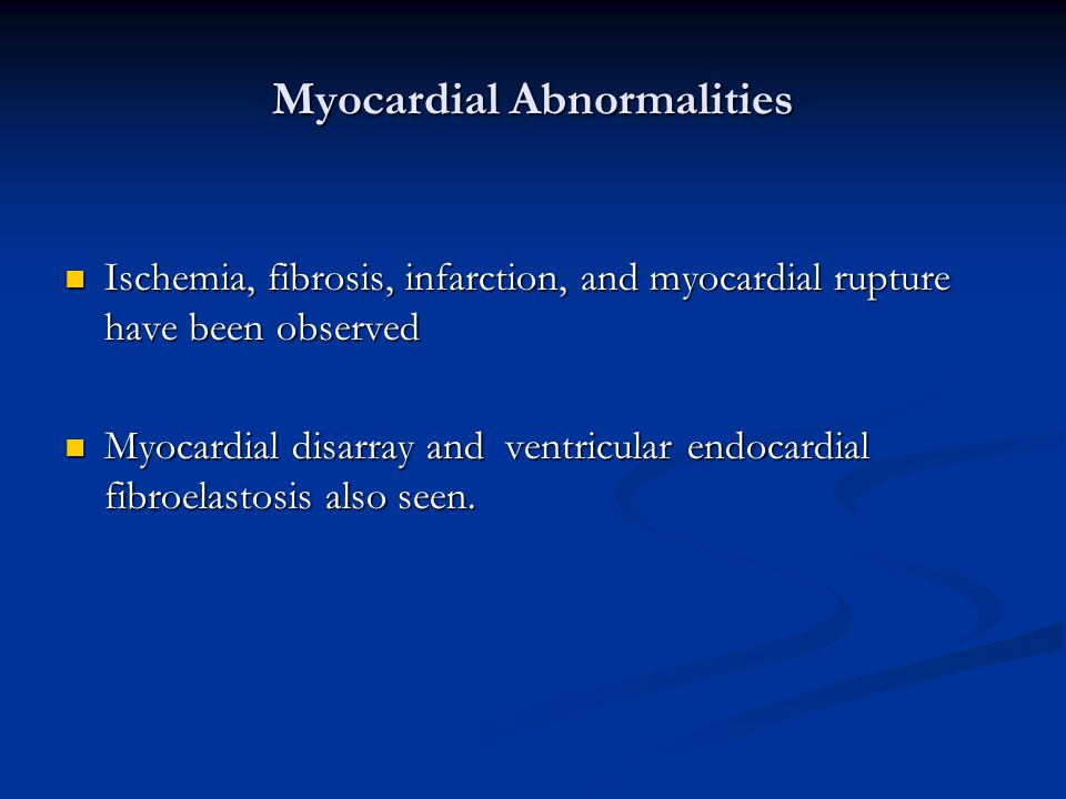 Myocardial Abnormalities