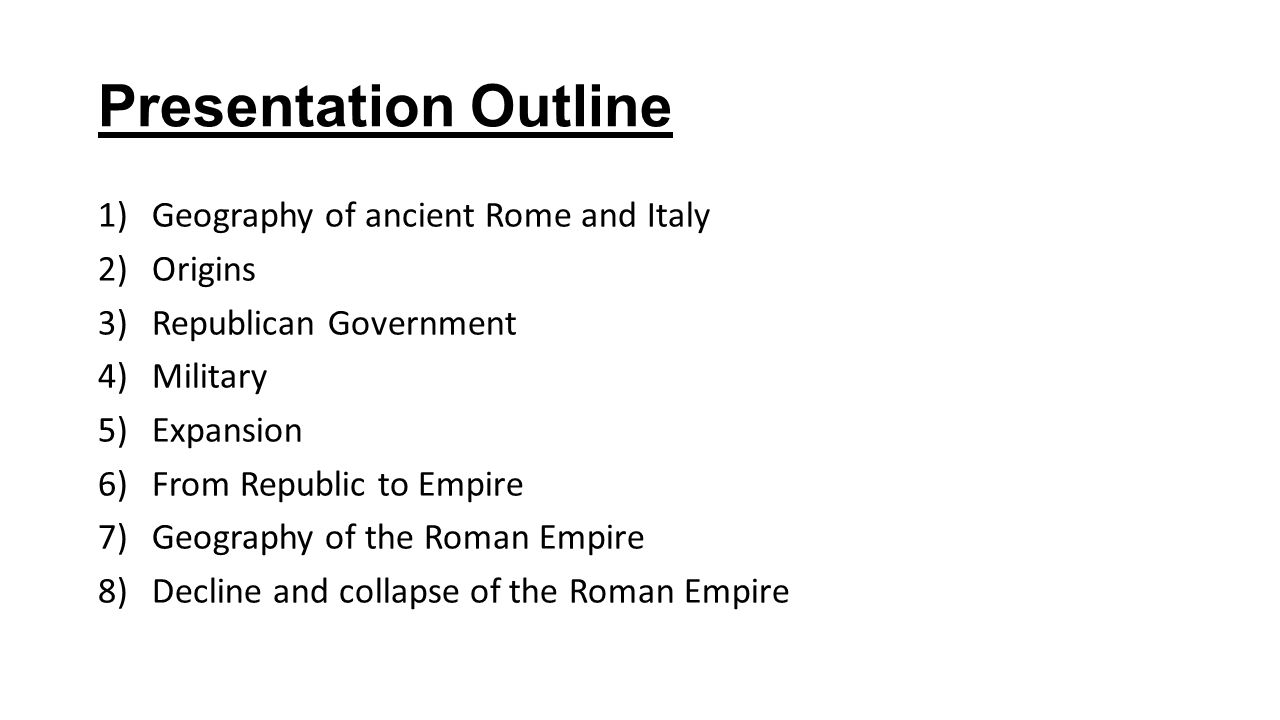 AP World History Roman Republic And Empire Ppt Video Online Download - Ancient rome map outline