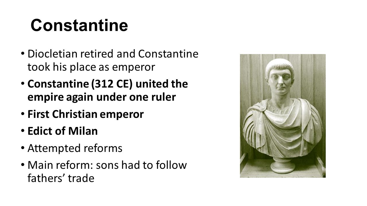 diocletian and constantine reformed the roman administrative and military structure From diocletian to constantine this reform of the government structure which split over the administration of the empire constantine played a.